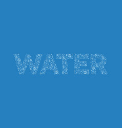 Text from droplets texture word water vector
