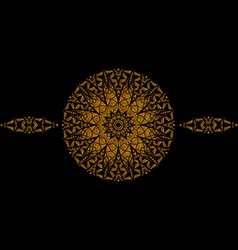 The gold mandala vector image