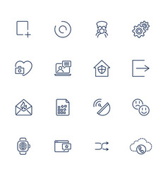 thin line icon set icons for web apps programs vector image