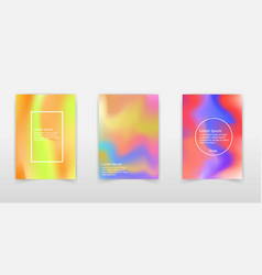Trendy pastel holographic foil backgrounds for vector