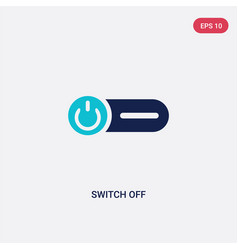 Two color switch off icon from general concept vector