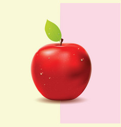 Two colored background with red apple vector