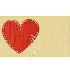Valentine needlework vector