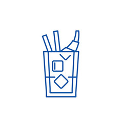 whiskey line icon concept whiskey flat vector image