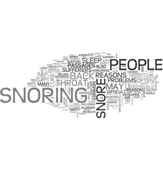 Why do people snore text word cloud concept vector