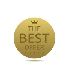 Best offer label vector image