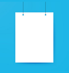Blank Poster Template vector image vector image