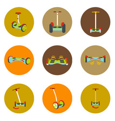 gyroscope icons in a flat style on a color vector image vector image