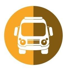 school bus student transport yellow circle vector image