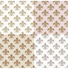 seamless fleur de lys pattern vector image vector image