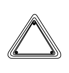 silhouette triangle shape traffic sign icon vector image vector image