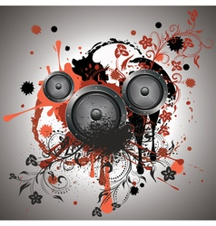 Sound Speaker with Floral vector image vector image