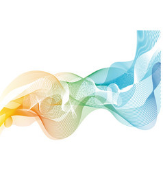 background with rainbow lines vector image
