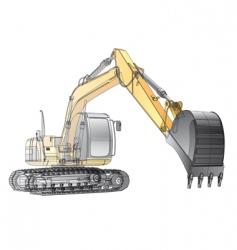 crawler excavator carcass vector image vector image