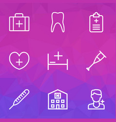 Drug outline icons set collection of claw vector