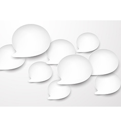Paper white rounded speech bubbles vector image vector image