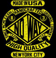 tee vintage slogan man t shirt graphic design vector image vector image
