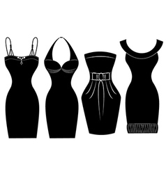 Woman Party Dress vector image vector image