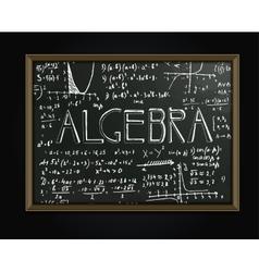 Algebra blackboard image vector image