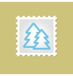 Forest stamp vector image