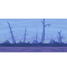 Swamp Game Background vector image vector image