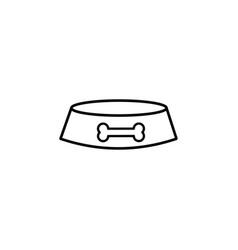 dogs plate linear icon vector image