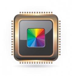 golden chip vector image vector image