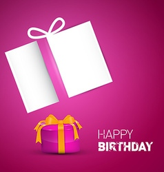 Happy Birthday Card Pink Birthday Background with vector image vector image