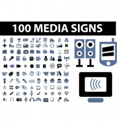 media signs vector image vector image