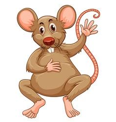 Rat with brown fur vector