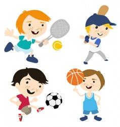 sport cartoon vector image vector image