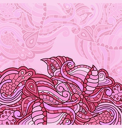 texture with abstract flowers pink vector image vector image