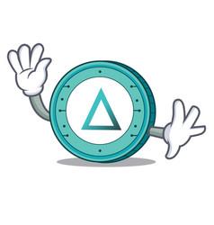 waving salt coin character cartoon vector image vector image