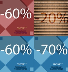20 60 70 icon Set of percent discount on abstract vector