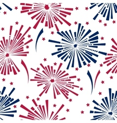 4th of july fireworks seamless pattern vector