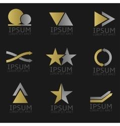 Abstract logo set vector