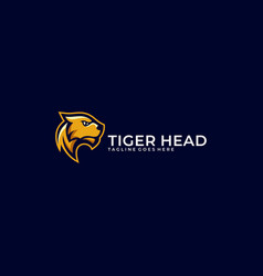 Abstract tiger head concept template vector