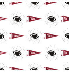 american football seamless pattern with sports vector image