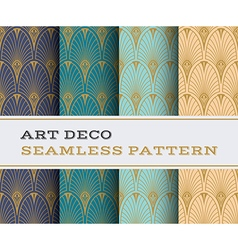 Art Deco seamless pattern 07 vector image