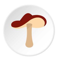 Autumn mushroom icon circle vector