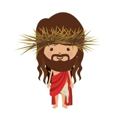 avatar jesus christ with stole and crown thorns vector image