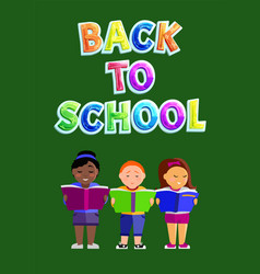 Back to school children poster vector