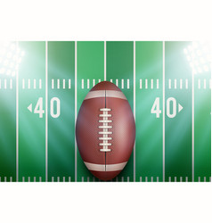 background for american football stadium vector image