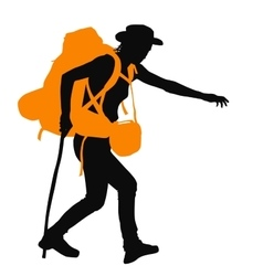Backpacker vector image