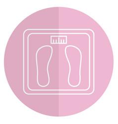 Balance bathroom isolated icon vector