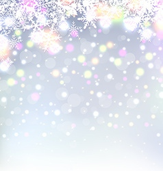 Beautiful abstract snowflake Christmas background vector