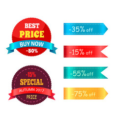best price buy now special autumn offer percent vector image