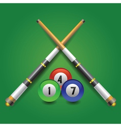 billiard icon vector image