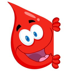 Blood Guy Smiling Around A Blank Sign vector image