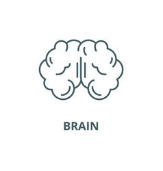 brain line icon brain outline sign vector image